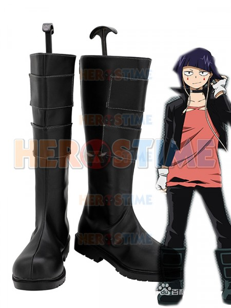 My Hero Academia Jiro Kyoka Black Cosplay Boots