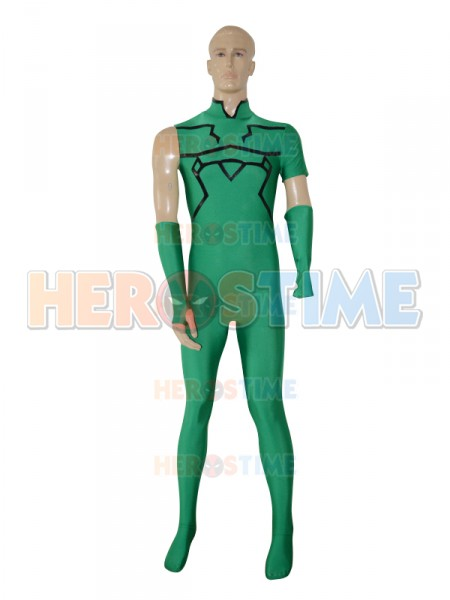 Deep Green Fate/Zero Lancer Custom Superhero Costume