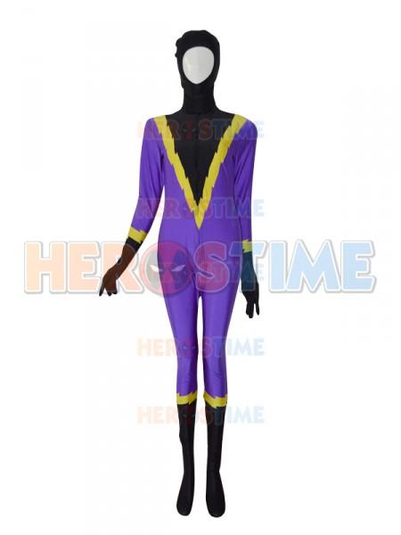 Shadowbolt Purple & Black Custom Superhero Costume
