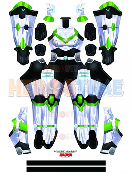 Shiro Female Voltron Cosplay Costume Paladin Armor Spandex Suit