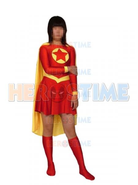 Red And Yellow Star Superhero Costume