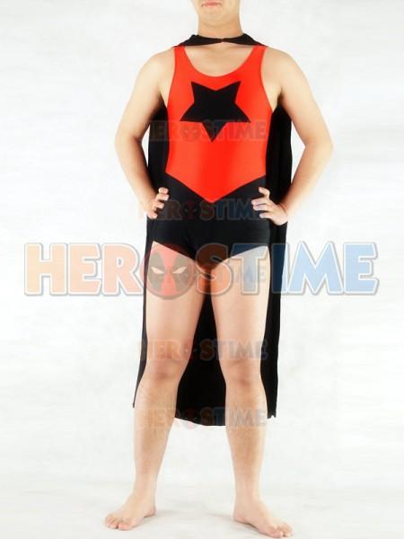 Red & Black Star Pattern Spandex Costume