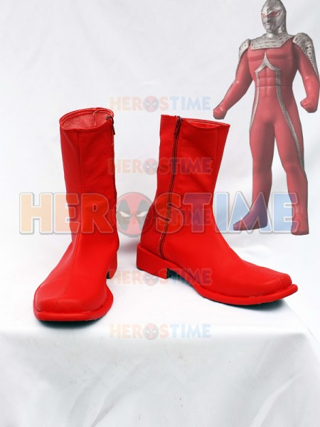 Ultraman UItra Seven X Red Cosplay Boots