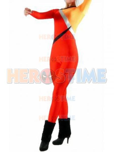 Orange & Red Unisex Spandex Superhero Costume