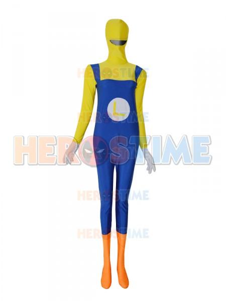 Super Mario Luigi Spandex Overalls Fullbody Zentai Suit