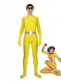 Totally Spies! Alex Yellow Spandex Superhero Costume