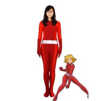 Totally Spies! Clover Red Spandex Superhero Costume