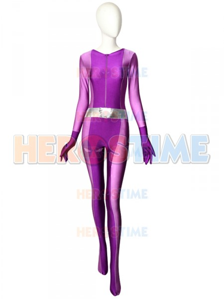 ¡Totally Spies!  Traje Violeta de Spandex de Mandy