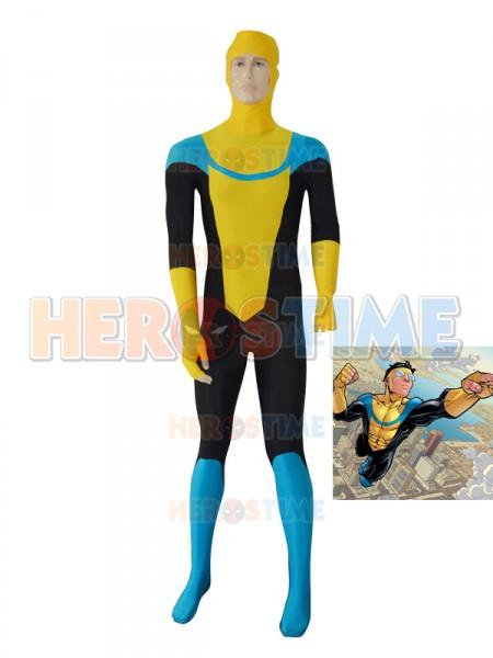 Yellow Custom Invincible Mark Grayson Superhero Costume