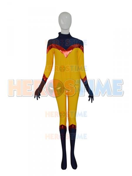 Yellow & Navy Blue Custom Superhero Costume
