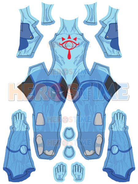Sheikah Shadow Folk The Legend of Zelda Cosplay Costume No Mask