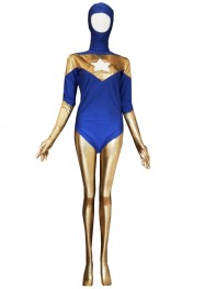 Female Style Booster Gold Spandex Superhero Costume