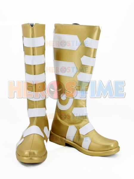 Captain-Marvel Shazam DC Comics Superhero Cosplay Boots