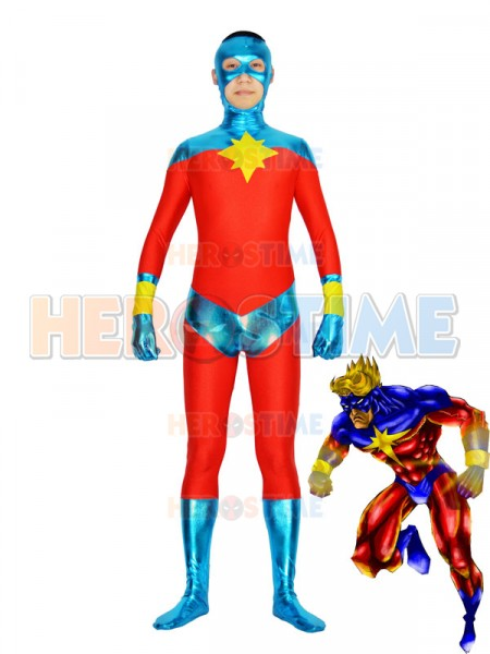Captain-Marvel Mar-Vell traje de superhéroe