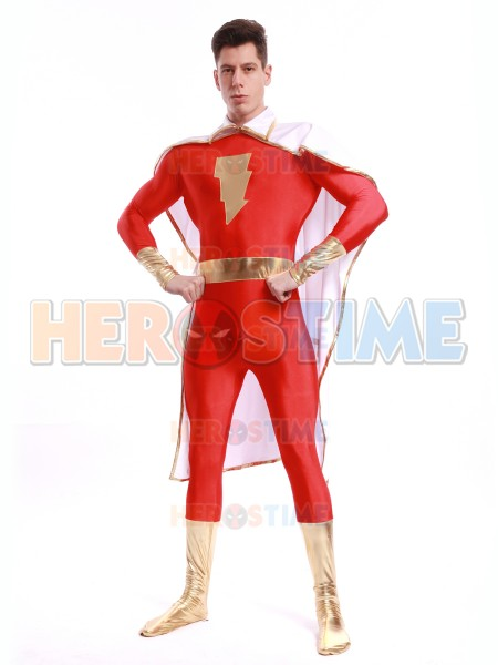 Captain-Marvel Superhero Costume