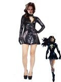 The Marvel-Family MaryMarvel Black Metallic Superhero Costume