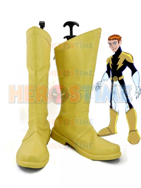 DC Comics Lightning Lad Superhero Cosplay Boots