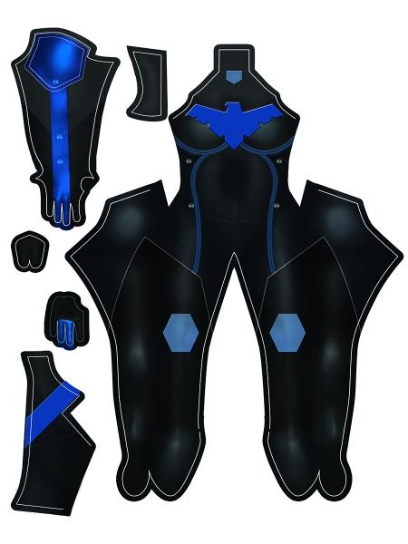 Newest Style Nightwing Female Superhero Costume