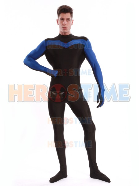 Blue & Black Nightwing Superhero Costume
