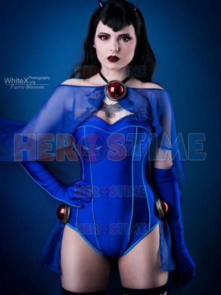 Disfraz de Bombshells Raven  Disfraz de Rachel Roth de DC Bombshells