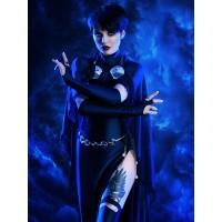 Navy Blue Raven Suit DC Comics Female Spandex Cosplay Costume