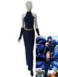 Raven Dress DC Comics Female Navy Blue Spandex Cosplay Costume