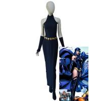 Raven Dress DC Comics Female Navy Blue Spandex Cosplay Costume