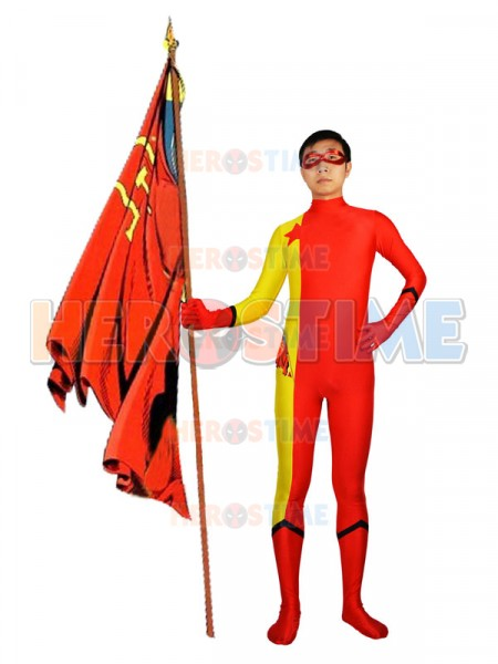 DC Comics Red Star Red & Yellow Superhero Costume