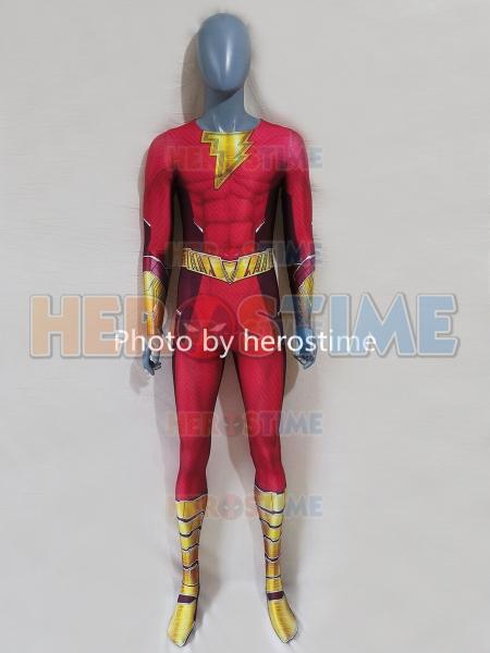 Newest Shazam Costume Movie Shazam 2 Cosplay Costume