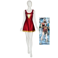Mary-Marvel Suit Shazam Family Printing Cosplay Dress