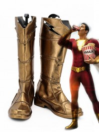 Shazam Shoes DC Comics Shazam Family Cosplay Boots