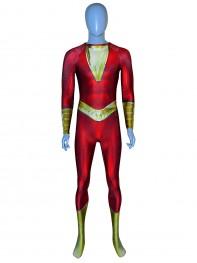Shazam Suit Shazam! Film Version Billy Botson Printed Cosplay Costume