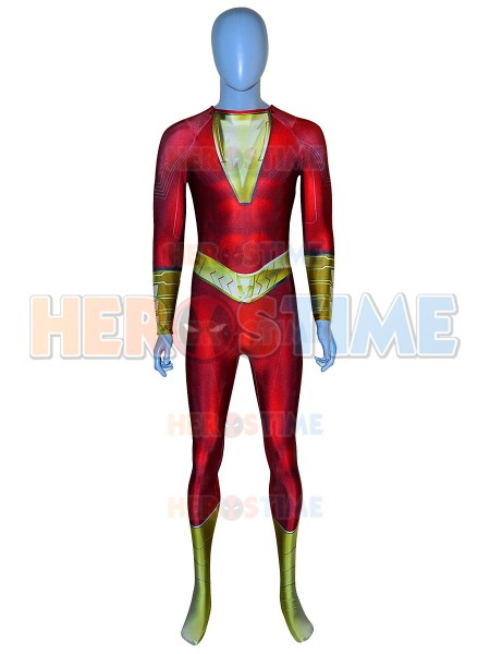 Shazam Suit Shazam! Film Version Billy Botson Printed Cosplay Costume
