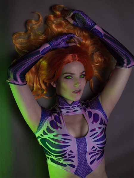 Starfire Teen Titans Superhero Costume Kids Adult Halloween Costume