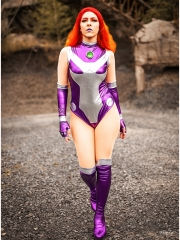 Starfire Rebirth Shiny Cosplay Costume V1