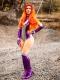Starfire Rebirth Shiny Cosplay Costume V2