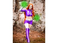 Starfire Spandex Cosplay Suit Teen Titans Superhero Costume