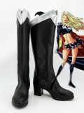Black Supergirl Superhero Cosplay Boots