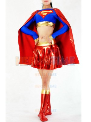 DC Comics Supergirl Spandex &  Metallic Superhero Costume