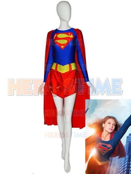 Classic Supergirl Spandex Superhero Costume