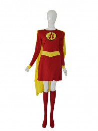 Supergirl Custom Red & Yellow Female Superhero Costume