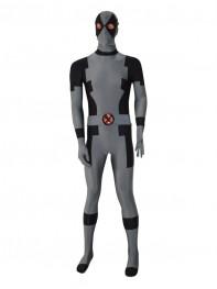 Black & Grey New Custom Deadpool Superhero Costume