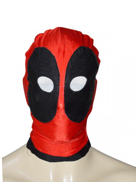 Black & Red Round Eyes Deadpool Hood