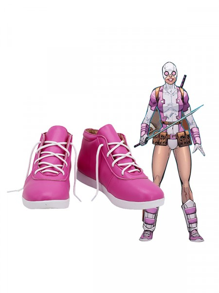 Zapatos Gwenpool Spider Gwen y Deadpool Amalgam Cosplay Boots