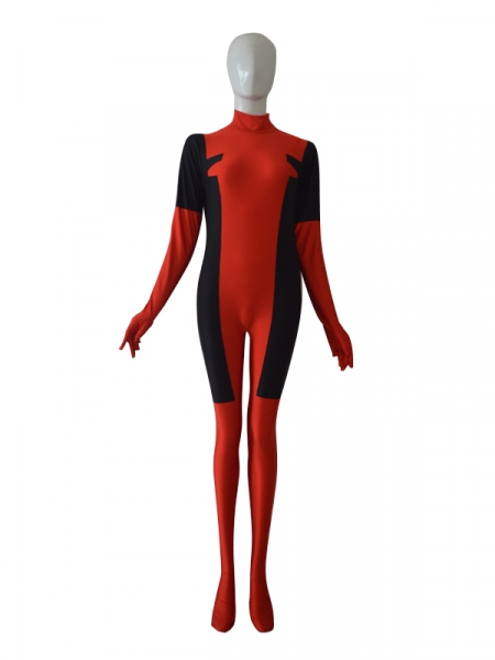 Red & Black Deadpool Catsuit