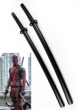 Deadpool Comics Superhero Double Katana Swords With Strap