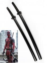 Deadpool Comics Superhero Double Katana Swords With Strap