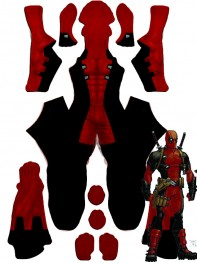 Deadpool Costume MarvelNow Deadpool Printed Costume