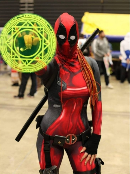 Traje de Lady Deadpool de estampado 3D para Cosplay