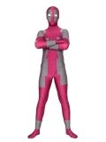 Fushia & Gray Spandex Deadpool Costume